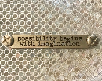 Possibility Begins With Imagination - GREETING CARD