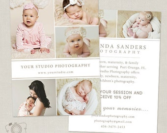 Promo Card - Photography Marketing Template Flyer Postcard Template Board 007 - C255, INSTANT DOWNLOAD