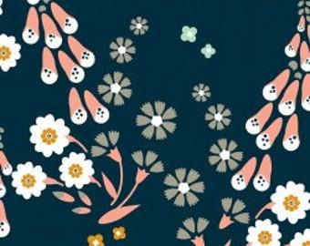 Pink Floral Fabric | Foxglove Flower Fabric | Cloud9 Fabric | Floral Print | Organic | Small Pink Floral Print
