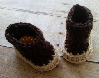 Baby Booties, Boys crochet shoes, Infant shoes, Baby Booties Newborn Boots Handmade shoes, Baby Boys Shoes, Brown Crochet Shoes