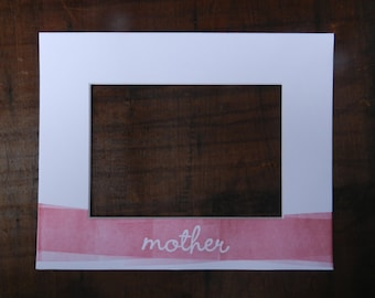 Customizable Letterpress Mother Picture Frame Mat with Hand-rolled Ink