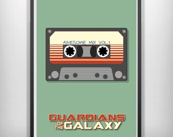 Guardians of the Galaxy minimalist movie poster