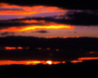 Landscape Print Wall Art, Landscape Photograph, Clouds and Sunset