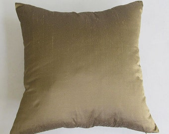 STOCK CLEARANCE 40% OFF- kakki silk pillow cover 18 inch throw pillow