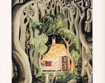 Hansel and Gretel Kay Nielsen vintage art nouveau print illustration Brothers Grimm German folk tale fairy tale home decor 8.5x11.5 inches