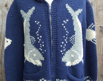 Vintage Cable Knit Catfish Sweater // Mariner // Snugglefest // Aquatic // Fisherman's Sweater
