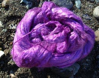 Hand Dyed Silk Top Dark Lavender 2 Ounces