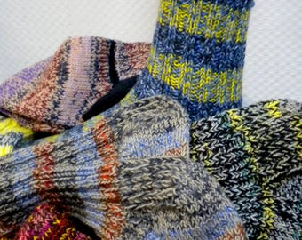 Page 7, warm socks, hand knitted, wool socks, gr 41-44, foot length 28-31 cm, unisex, thick sofa socks, relaxing, sports, horseback riding, hiking