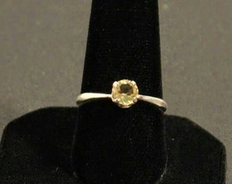 Sterling silver and faceted citrine gemstone