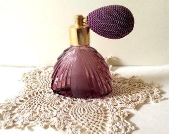 Amethyst Perfume Atomizer, Vintage perfume atomizer, wedding, vintage wedding,Amethyst perfume