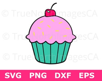 Cupcake Clipart / Cupcake SVG File / Cupcake Vector / Cupcake PNG / SVG Cupcake Design / Svg Files for Cricut / Svg Files for Silhouette