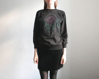 Vintage S/M pullover with flower print
