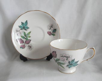 Royal Vale Cup & Saucer 7974 England Vintage Bone China Ridgway Potteries