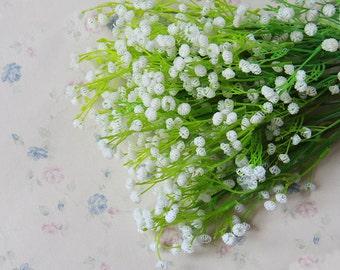 5 Bouquet Silk Baby's Breath Artificial Wedding Flowers Decor Silk Baby's Breath  Flowers Bridal Bouquet Flowers(131-49)