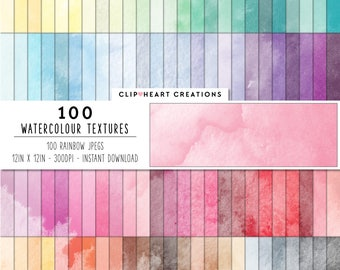 100 Watercolour texture paper digital paper cute clipart paper watercolor pattern paper watercolour paper download digital paper