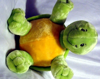Plush Turtle - Dog Toy - Squeaker Toy & Blanket - Baby Toy - Cuddle Critter Turtle - Baby gift - Puppy Gift - Embroidery