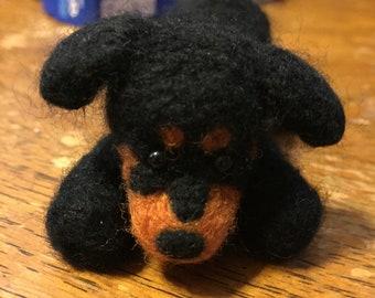 Needle felted Rottweiler