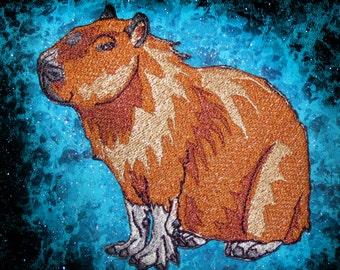 Epic Capybara Hydrochoerus hydrochaeris Iron on patch