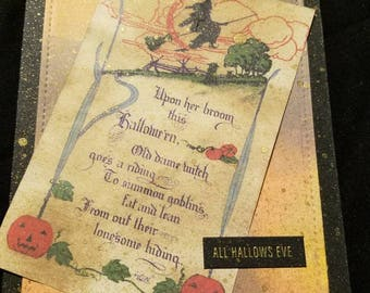 Halloween card, vintage halloween