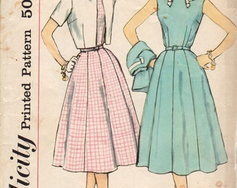 Bust 36-1950's-60's Misses' Dress and Jacket Simplicity 2502 Size 16