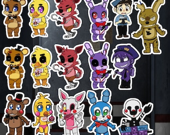 Five Nights at Freddy's Stickers & Keychains