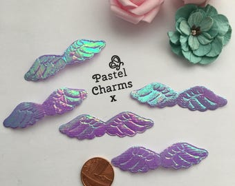 Pack of 10 iridescent purple wings x