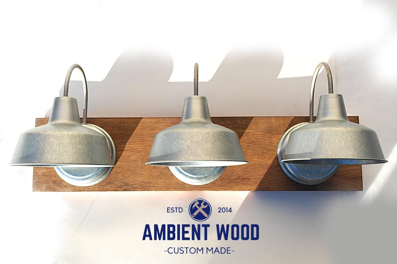 Industrial galvanized steel lights bathroom vanity bar light fixture 1 arubaitofo Choice Image