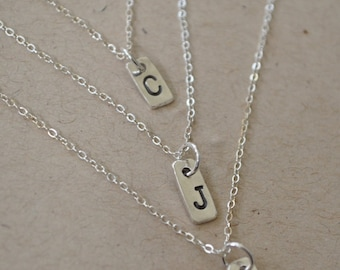 Mother's Initial Necklace in Sterling Silver...1 initial