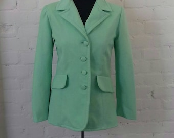 Mint green fitted jacket from the 60's/70's - S/M