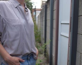 Rayon Stripe Dolman Sleeve Blouse, Size 8
