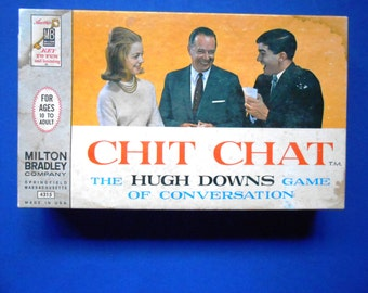 Chit Chat, the Hugh Downs Game of Conversation, a Vintage Board Game