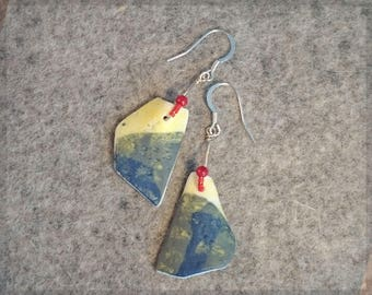 no.213 Porcelain Earrings - Textured earrings