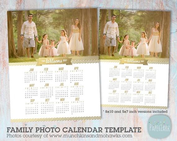 Items Similar To 2017 Family Calendar Template Printable Photoshop