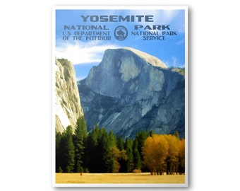 Yosemite National Park Poster (Half Dome)