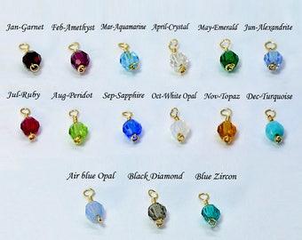 Birthstone, Birthstone Crystal Charm, Swarovski Crystal,birthstones, add these gorgeous stones to your bracelet & Necklace.