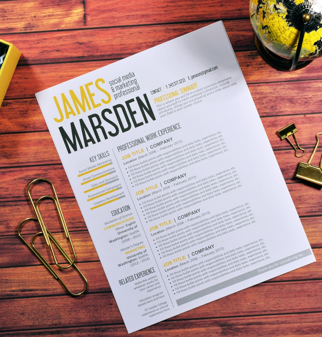 Resume template editable download cover letter references zoom madrichimfo Images
