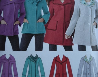 Simplicity 1540 Misses Jacket in Two Lengths with Collar Variations