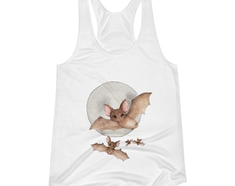 Batty For Bats! Women's Racerback Tank