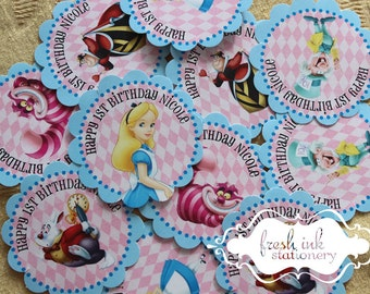 Alice in Wonderland Personalized Stickers