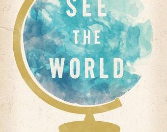 See the World Globe print 5 x 7
