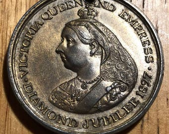A commemorative medal for the 1897 diamond jubilee of Victoria, Queen of Great Britain & Ireland, empress of Ireland.