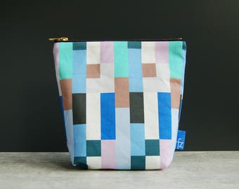 Building Blocks Make Up Pouch Bag in Blue