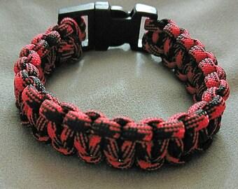 Red Camoflauge Paracord Bracelet