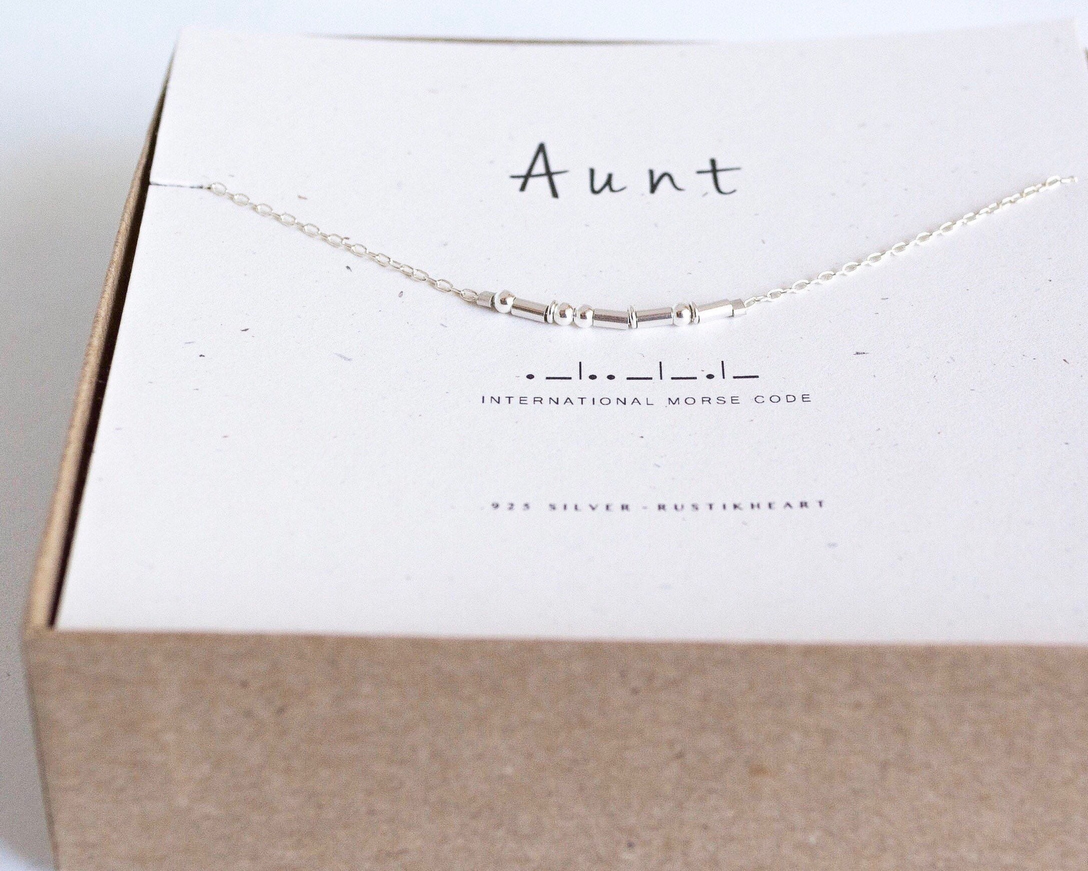 bling necklace stamped hand personalized jewelry pin for aunt auntie
