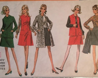 1960's McCall's 2001 Pattern Misses  Separates - Size 12 Bust 34