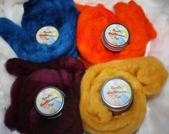 RawCo. 4~Pack Starter Dye Kit Good Vibrations Dye for natural fibers/ wool / silk / plant