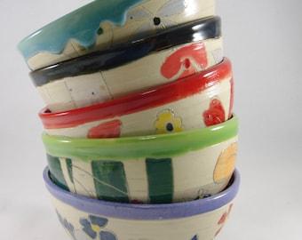 Custom Bowl Ceramic Bowl Ice Cream Salad bowl Ramen Bowl Pottery soup bowl pho bowl noodle bowl Ceramics and Pottery  9th Anniversary Gift
