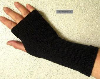 ARM WARMERS / Gloves, Merino, black