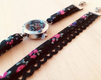 Shows floral black pink fuschia flowers flowers