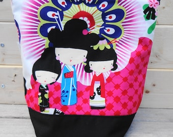 Insulated Lunch Bag - Geisha